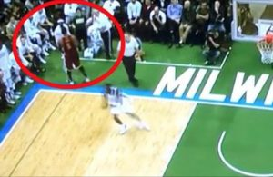 Video: J.R. Smith Daps Up Jason Terry on Bucks Bench