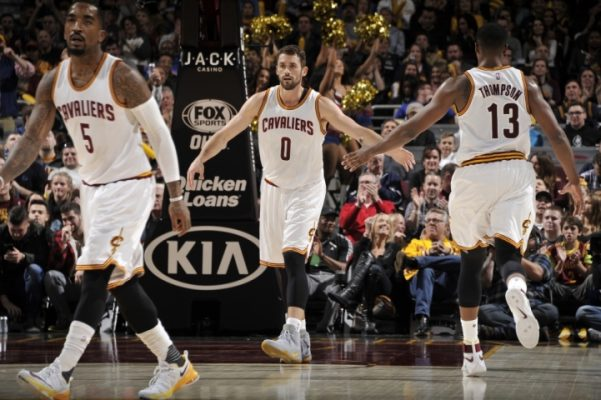 Kevin Love J.R. Smith, Tristan Thompson