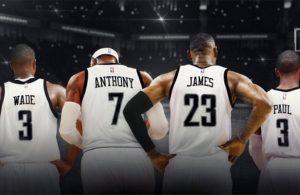 Chris Paul, Dwyane Wade, LeBron James, Carmelo Anthony