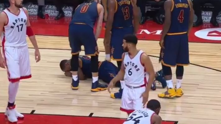 J.R. Smith Raptors Injury