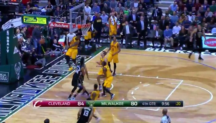 LeBron James Block Jabari Parker