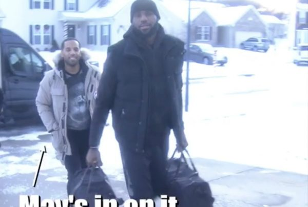 Video: LeBron James Delivers $1.3 Million in Cash to Akron Family
