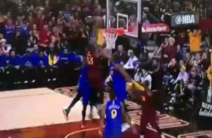 LeBron James Dunks on Draymond Green and Kevin Durant