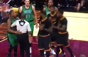 LeBron James and Marcus Smart