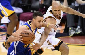 Stephen Curry and Richard Jefferson