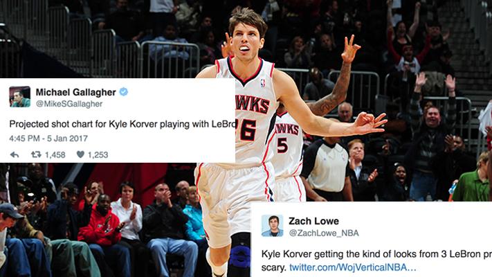 68b5d8d5c177 NBA Twitter Explodes Over Cavs  Acquisition of Kyle Korver ...