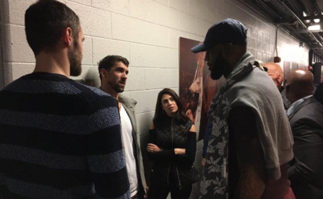 Michael Phelps and LeBron James