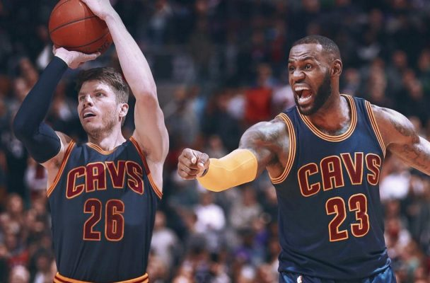 Kyle Korver and LeBron James