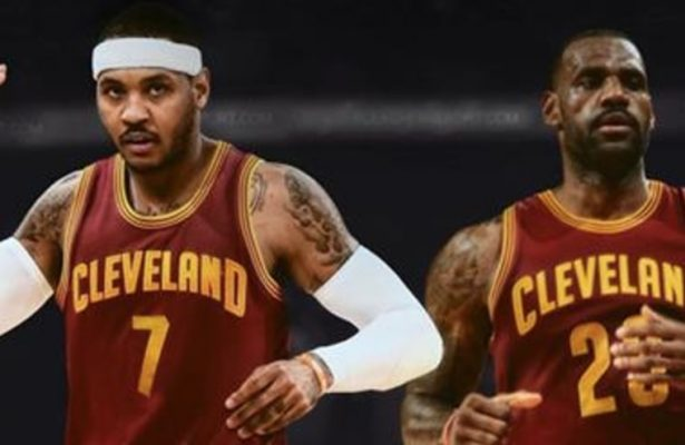 Carmelo Anthony and LeBron James on Cavs