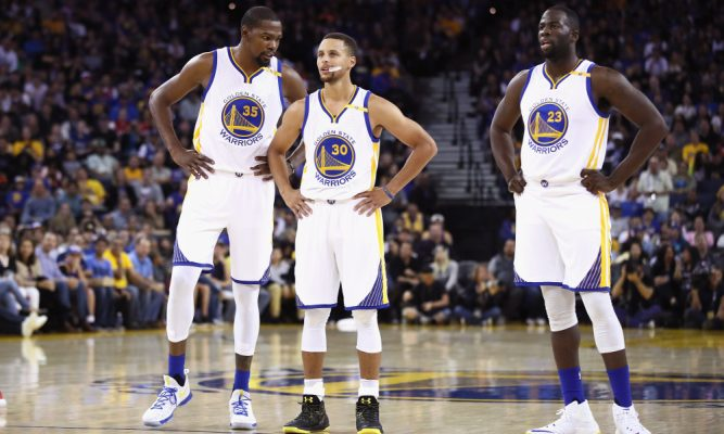 Kevin Durant, Stephen Curry, Draymond Green