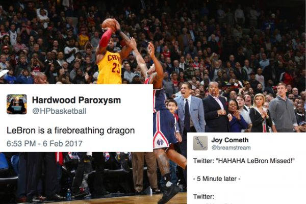 d40dc54c1b7 NBA Twitter Explodes to LeBron s Miraculous Game-Tying Three ...
