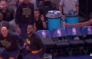 Richard Jefferson and LeBron James on the Bench