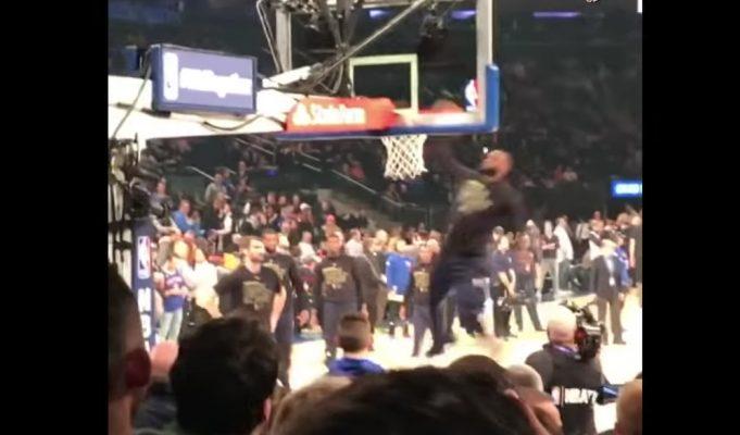 LeBron James Dunk Contest vs. Knicks