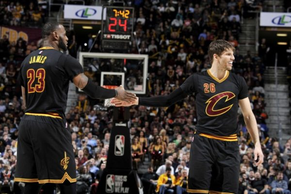 LeBron James and Kyle Korver