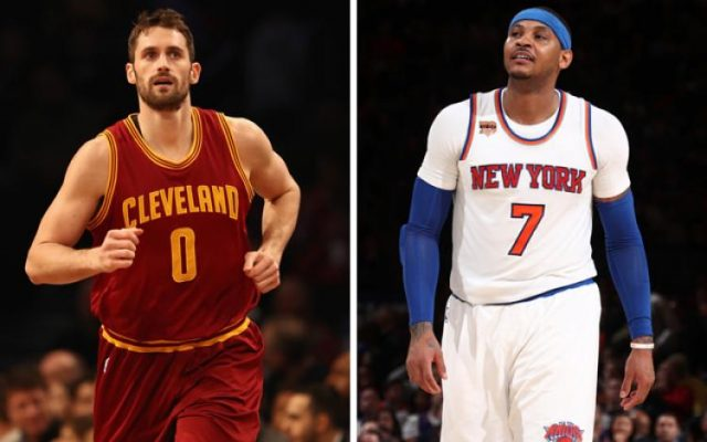 Kevin Love and Carmelo Anthony