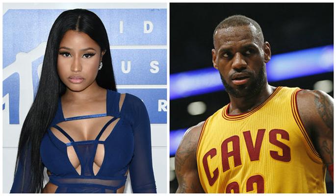 Nicki Minaj and LeBron James