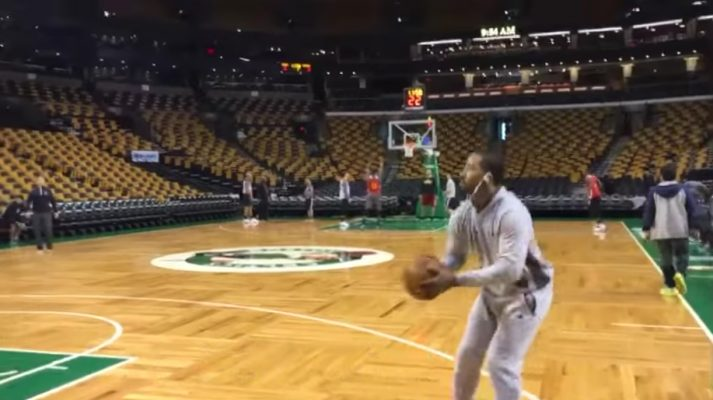 J.R. Smith Practicing
