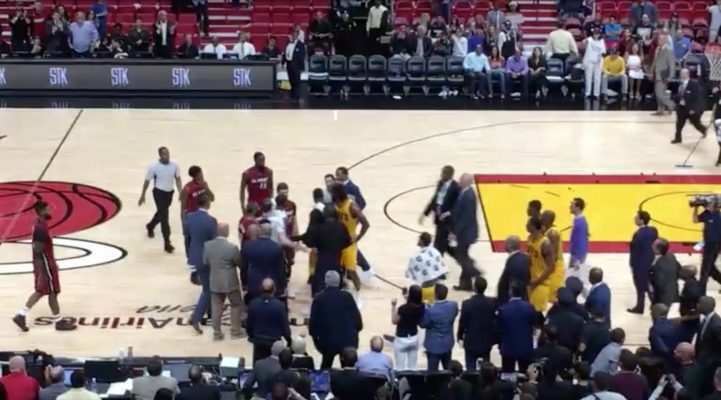 Video: J.R. Smith Goes After Rodney McGruder at End of Cavs-Heat Game