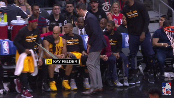 Kay Felder, Kevin Love, and LeBron James