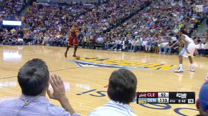 Video: Denver Nuggets Reporter Sitting Courtside Trash Talks LeBron James During Game