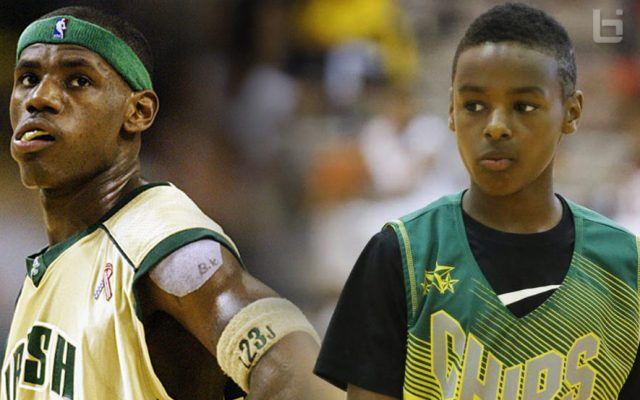 LeBron James and His Son