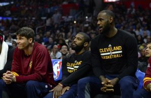 LeBron James, Kyrie Irving Bench
