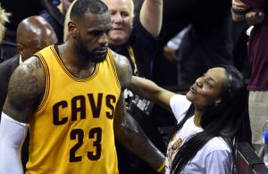 LeBron James and His Mom