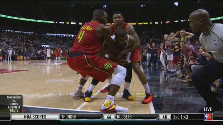 Kyrie Irving Jump Ball vs. Atlanta Hawks