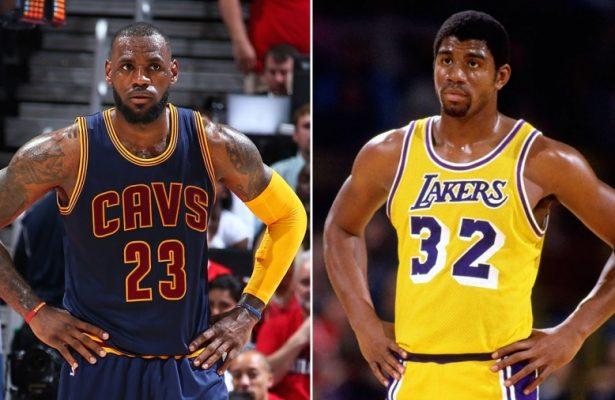 LeBron James and Magic Johnson