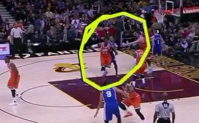 Video: Kyrie Irving Gets First Flagrant Foul of Career Defending LeBron James