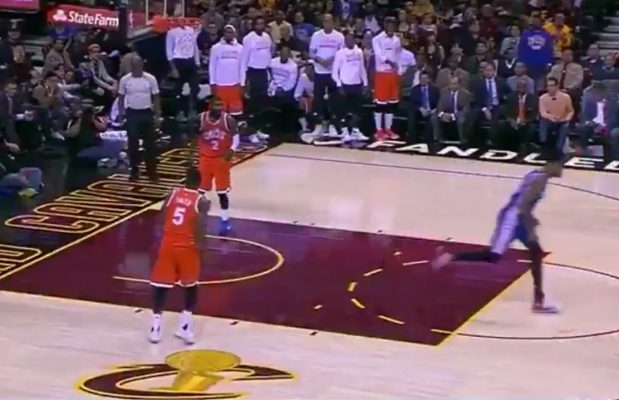 Kyrie Irving Savagely Taunts 76ers Opponent After Dunk
