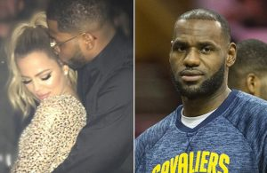 Tristan Thompson and Khloe Kardashian, LeBron James