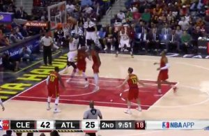 LeBron James dunk vs. Atlanta Hawks