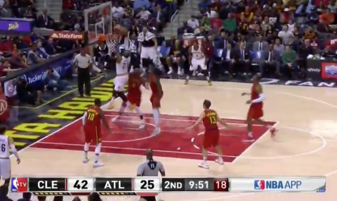 LeBron James dunk vs. Atlanta Hawks