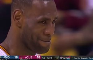 Video: LeBron's Priceless Reaction After His Most Obvious Travel of All-Time