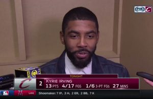 Video: Kyrie Irving Reacts to LeBron's Epic Game 3 Performance