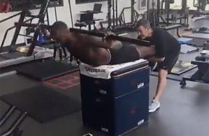 LeBron James Working Out