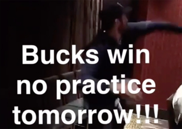Video: Cavs Players Cheer on Bucks So They Don't Have to Practice