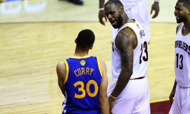 Stephen Curry and LeBron James