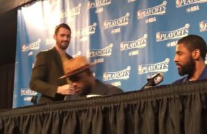 Kevin Love, LeBron James, and Kyrie Irving Postgame Presser