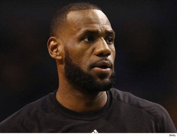 LeBron's Home Vandalized With Racial Slur