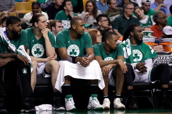 Amir Johnson, Kelly Olynyk, Al Horford, Avery Bradley, Jae Crowder