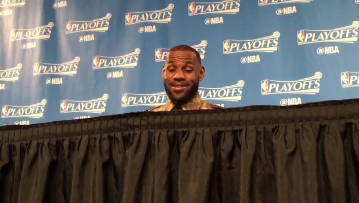 Video: LeBron's Hilarious Response to Dahntay Jones Getting Ejected in Game 1