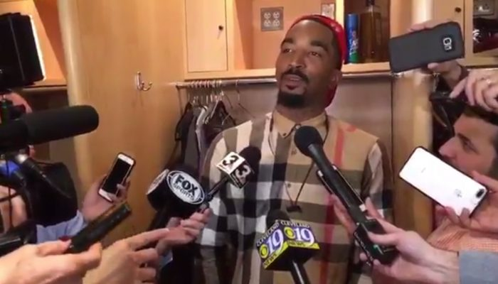 J.R. Smith Gives Hilarious Response When Asked About LeBron's Beer-Grabbing Moment