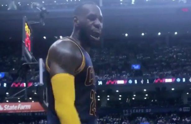 Video: LeBron James Clowns Raptors Fans Courtside During Game 4