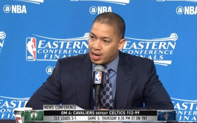Video: Tyronn Lue Sarcastically Mocks LeBron James During Press Conference