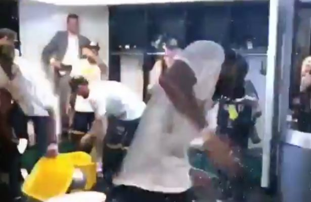 Video: Cavs Celebrate Eastern Conference Championship With Water Fight