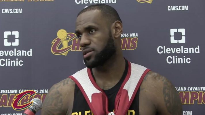 Video: LeBron Reacts to Being Chosen as Underdog in Finals for Sixth Time in Career