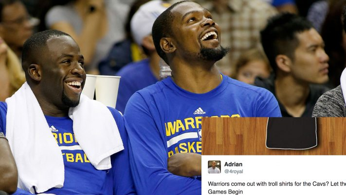Golden State Warriors Troll Cleveland Cavaliers With Petty New Shirts