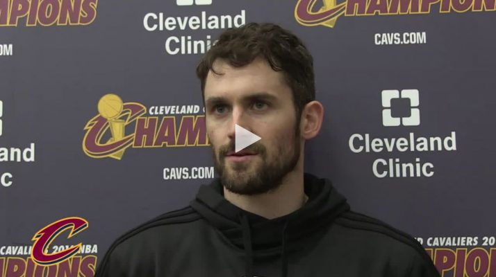 Kevin Love Says Cavs Aren't Underdogs, Defending
